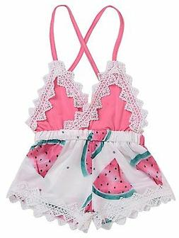 Happy Town 2018 Summer Toddler Baby Girl Clothes Cute Waterm