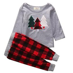 HappyMA 2Pcs Toddler Baby Boy Girl Christmas Long Sleeve Out