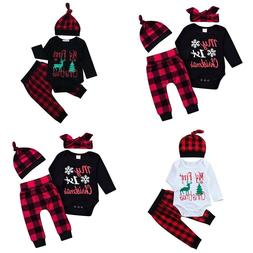 3Pcs Set Baby Clothes Newborn Clothing Set Infant Romper Pan