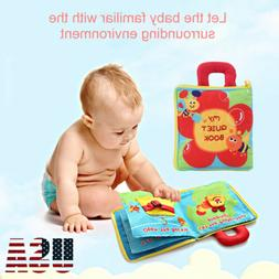Baby 3D Quiet Book Soft Touch Non-Toxic Cloth Books Early Ed