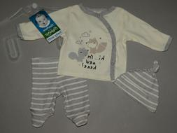 Baby boy clothes, Newborn, Gerber Organic 3 piece set