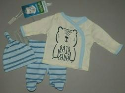 Baby boy clothes, Preemie, Gerber Organic 3 piece set