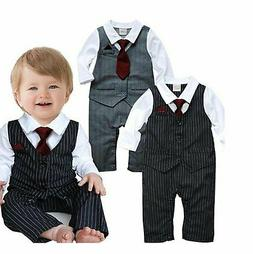 EGELEXY Baby Boy Formal Party Wedding Tuxedo Waistcoat Outfi