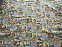 Baby Boy's Baby Animals Receiving Blanket with Matching Burp