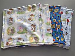Baby Boy's Variety Pack of Burp/Wash Cloths