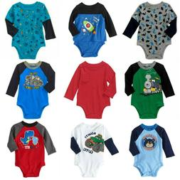 Baby Boys Creeper Long Sleeve Assorted Styles Graphics NB 0-