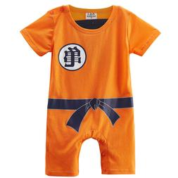 Baby Boys Dragon Ball Z Romper Newborn Goku Costume Infant P