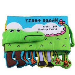 Baby Cloth Book Cartoon Early Learning Educational Toys Gift