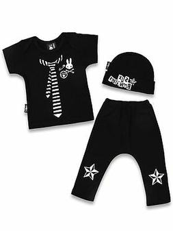 Six Bunnies Baby Clothes Punk Outfit 3-6 mos Boxed Gift Boy