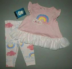 Baby girl clothes, 0-3 months, Gerber 2 piece set