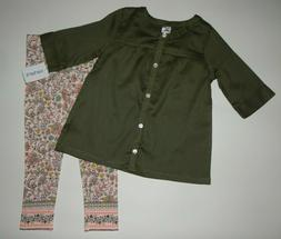 Baby/Toddler girl clothes, 5T, Carter's 2 piece set/ SEE DET