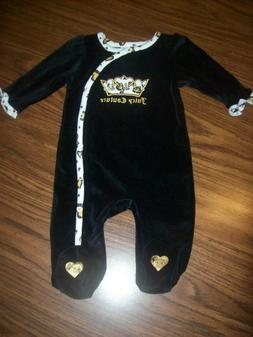 Baby Girls JUICY COUTURE 1-Pc Velour Outfit  Size 6 - 9 Mont