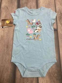 Baby Girls Carhartt Bodysuit Size 3 Months Farm Animals NWT