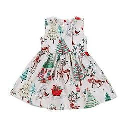 GRNSHTS Baby Girls Christmas Dresses Clothes Floral Deer Sle