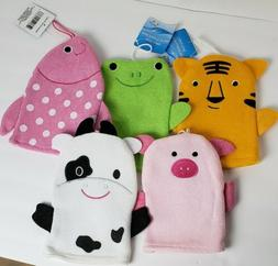 Baby Infant Bath Puppets Set Of 5 Pig Cow Tiger Frog and Fis