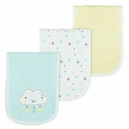 Gerber Baby Unisex Neutral 3-Pack Clouds Burp Cloths