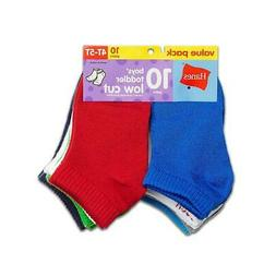 Hanes Boys' Infant/Toddler Low Cut 10-Pack,Style 28/10