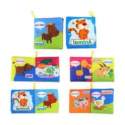 Cloth Book Newborn Baby Learn Letter Number Animals  First B