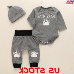 Cute Newborn Baby Boy Girl Clothes Jumpsuit Romper Bodysuit