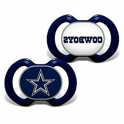 Baby Dallas Cowboys 2 Piece Pacifier Set BPA-Free Orthodonti