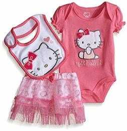 Hello Kitty Baby Girls' Gift Set, Pink Carnation, 12 Months