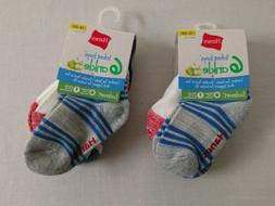 Hanes Infant Boys ankle socks 2 packs Size 12-24  months New