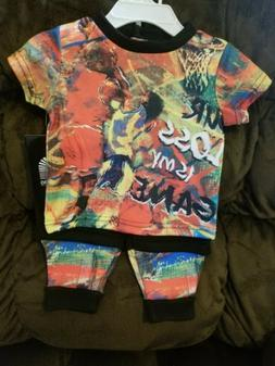 Akademiks Jeanius Level Products Kids Infant Outfit Graffiti