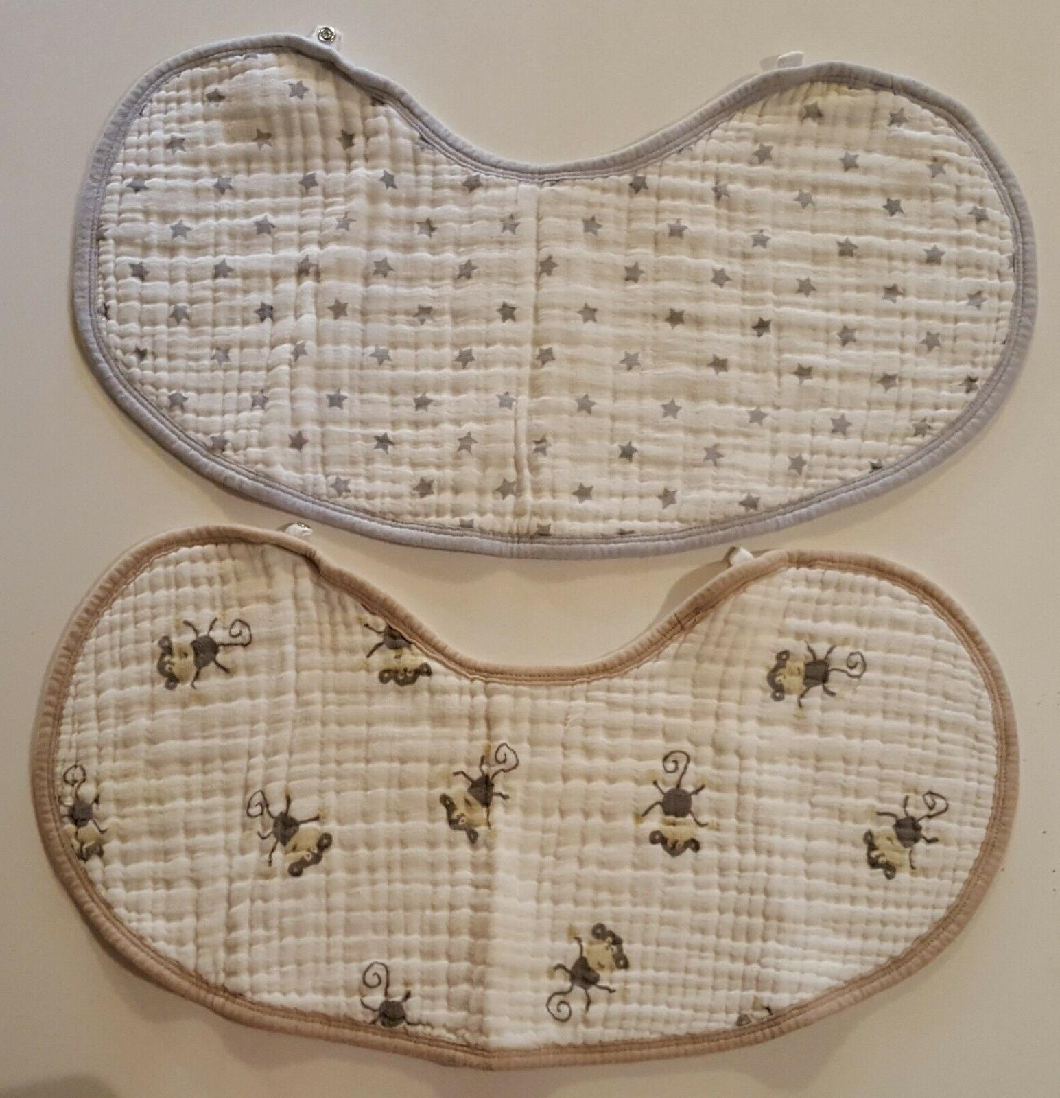 aden and anais quilted burp rag bibs