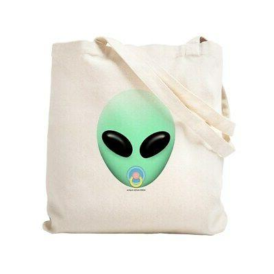 baby alien natural canvas tote bag cloth