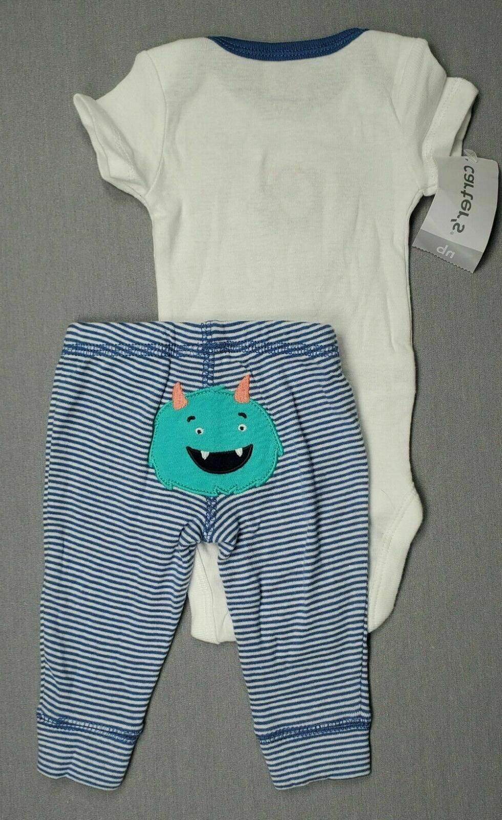 Baby Carter's 2Pc Monster Outfit
