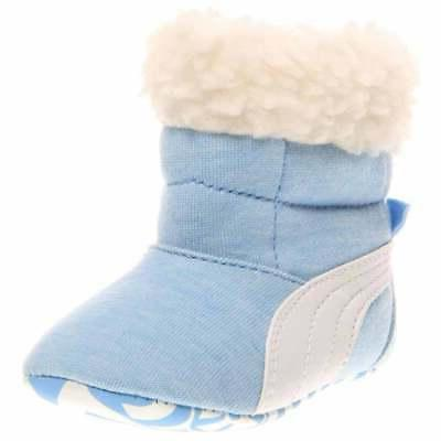 baby fur infant casual slippers blue boys