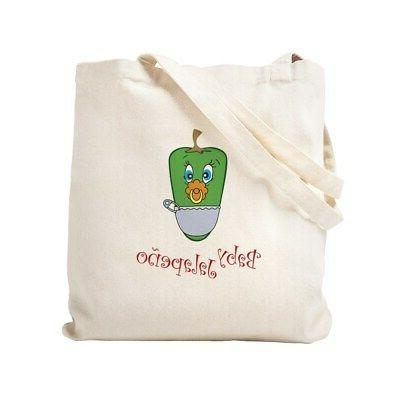 baby jalapeno natural canvas tote bag cloth