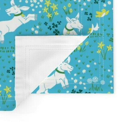 Cloth Placemats Goat Fields Daisy of 2