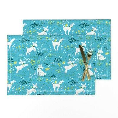 cloth placemats happy baby goat goats on