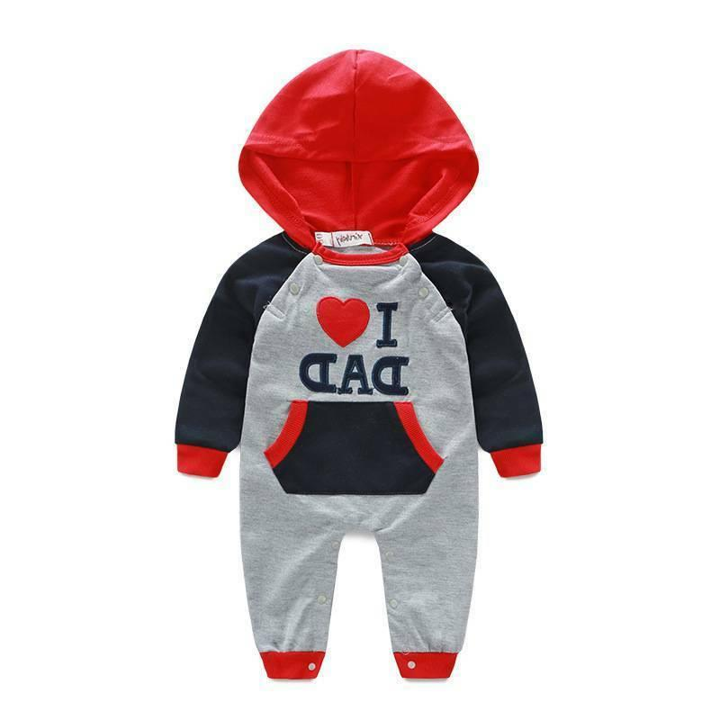 Newborn Boy Cotton Clothes I LOVE DAD/MOM Outfit