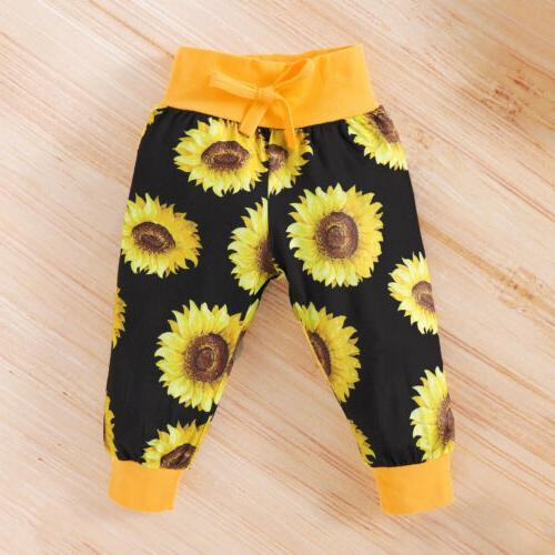 Newborn Baby Girl Letter Jumpsuit Tops+Pants+ Headband Outfit