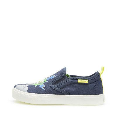 shoes junior baby slip on cloth navy
