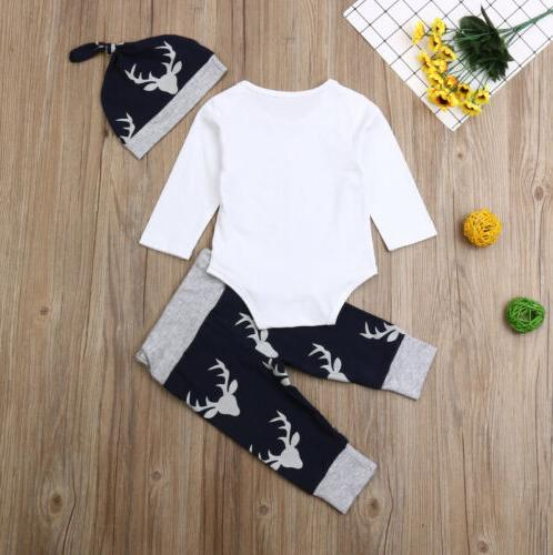 US Clothes Romper Tops+Deer Outfits