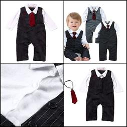 NEW Baby Boy Formal Party Wedding Tuxedo Waistcoat Outfit Su
