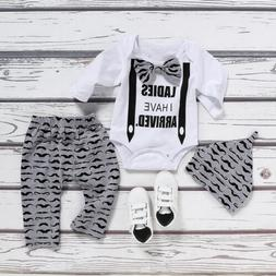 Newborn Infant Baby Boys Gentleman Outfit Clothes Romper Top