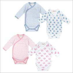 Organic Baby Clothes – Side Snap Bodysuit with Long Sleeve