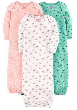 Simple Joys by Carter's Baby Girl 3-Pack Cotton Sleeper Gown