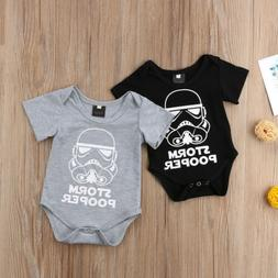 Star Wars Newborn Baby Boy Romper Bodysuit Sunsuit One Piece