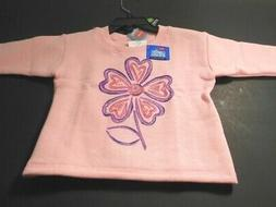 Sweatshirts Infant Girls Sweaters Baby Girl Pink Hanes Cloth