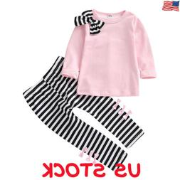 Toddler Baby Kids Girl Autumn Winter Clothes Tops T-shirt Pa