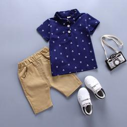 Toddler Kids Baby Boy Clothes Boys Outfits Sets Short T-Shir