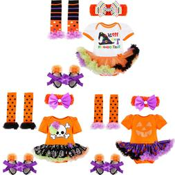 US Baby Girls My 1st Halloween Clothes Tutu Romper Dress Sho