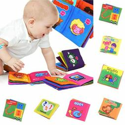 US Baby's First Non-Toxic Soft Fabric Cloth Book Colorful,Sq