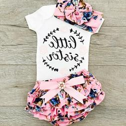 USA Newborn Baby Girls Outfit Clothes Romper Jumpsuit Bodysu